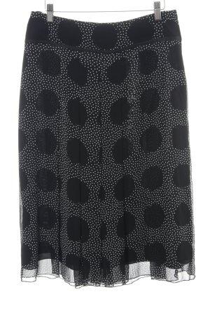 Betty Barclay Faltenrock schwarz-weiß Punktemuster Elegant
