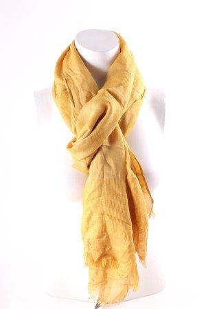 Betty Barclay Sjaal met franjes limoen geel casual uitstraling