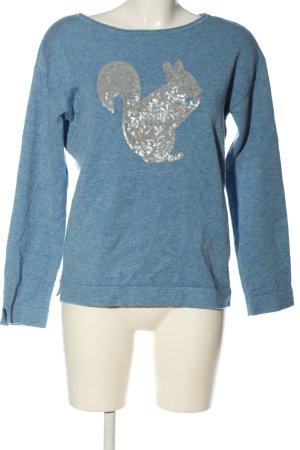 Betty Barclay Grobstrickpullover blau meliert Casual-Look