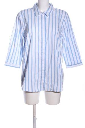 Betty Barclay Hemd-Bluse blau-weiß Allover-Druck Business-Look