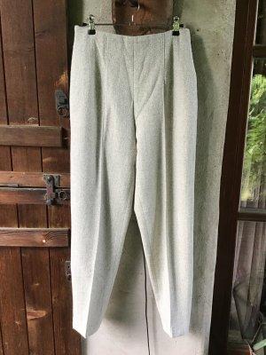 Betty Barclay Woolen Trousers oatmeal-camel alpaca wool