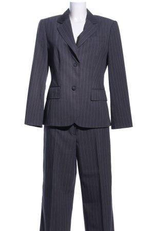 Betty Barclay Tailleur-pantalon gris clair-blanc cassé motif rayé
