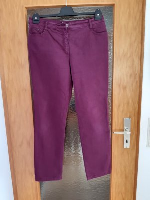 Betty Barclay Jeansy z prostymi nogawkami purpurowy