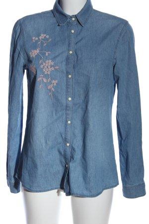 Betty Barclay Chemise en jean bleu-blanc cassé motif de fleur