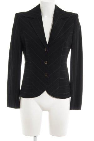 Betty Barclay Jerseyblazer schwarz-cognac Streifenmuster schlichter Stil