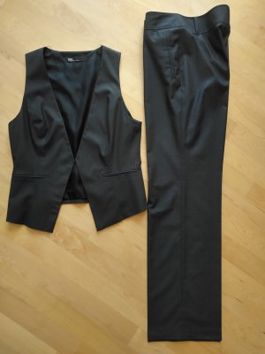 Betty Barclay Costume business noir-gris anthracite polyester