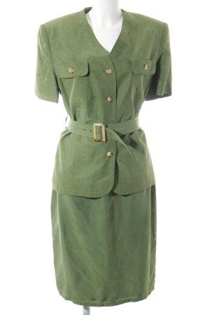 Betty Barclay Kostüm khaki extravaganter Stil