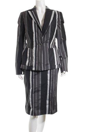 Betty Barclay Kostüm schwarz-hellgrau Streifenmuster Casual-Look