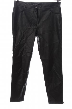 Betty Barclay Faux Leather Trousers black casual look