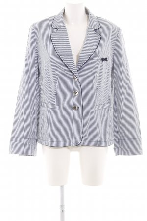 Betty Barclay Kurz-Blazer blau-weiß Streifenmuster Business-Look