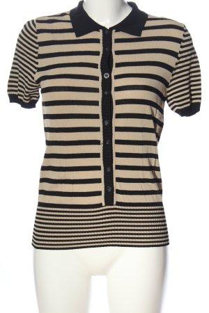 Betty Barclay Blouse à manches courtes crème-noir motif rayé