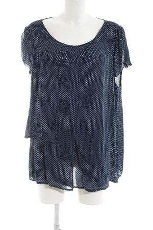 Betty Barclay Kurzarm-Bluse blau-weiß Paris-Look