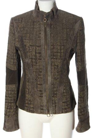 Betty Barclay Kurzjacke braun-wollweiß abstraktes Muster Casual-Look