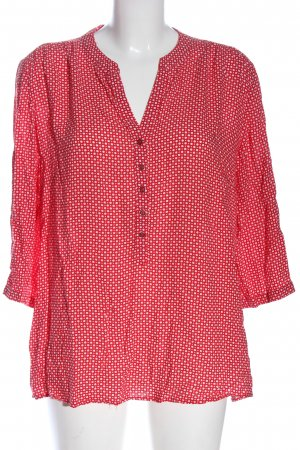 Betty Barclay Langarm-Bluse rot-weiß Allover-Druck Business-Look