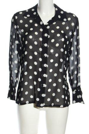 Betty Barclay Langarm-Bluse schwarz-weiß Punktemuster Elegant