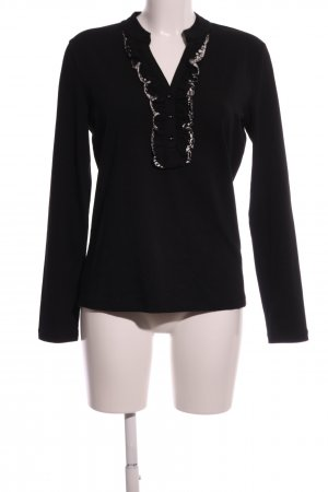 Betty Barclay Langarm-Bluse schwarz-weiß Casual-Look