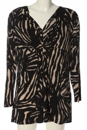 Betty Barclay Langarm-Bluse schwarz-nude abstraktes Muster Casual-Look