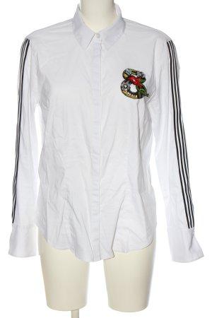 Betty Barclay Langarmhemd weiß-schwarz Streifenmuster Casual-Look