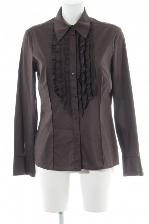 Betty Barclay Langarmhemd schwarzbraun Business-Look