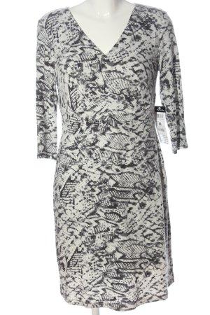 Betty Barclay Abito a maniche lunghe bianco-grigio chiaro motivo astratto