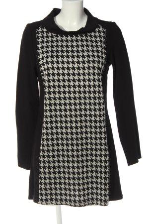 Betty Barclay Langarmkleid schwarz-weiß Allover-Druck Business-Look