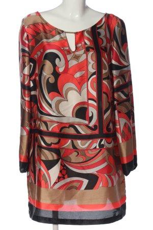Betty Barclay Langarmkleid pink-schwarz abstraktes Muster Casual-Look