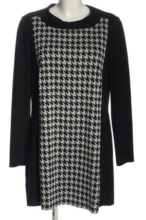 Betty Barclay Langarmkleid schwarz-hellgrau grafisches Muster Elegant