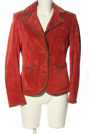 Betty Barclay Leather Blazer red casual look