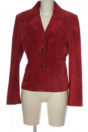 Betty Barclay Blazer en cuir rouge élégant