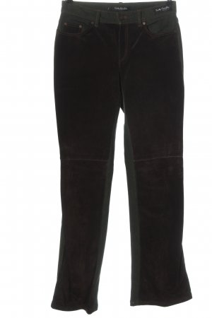 Betty Barclay Leather Trousers brown-black casual look