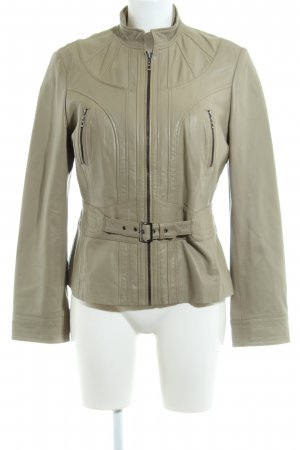 Betty Barclay Lederjacke wollweiß Casual-Look