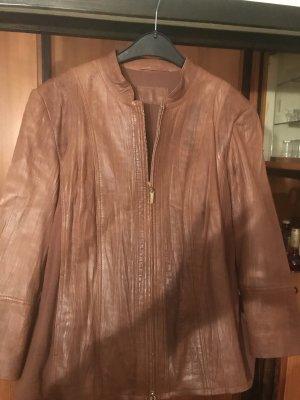 Betty Barclay Skórzana kurtka brązowy