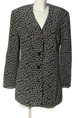 Betty Barclay Long-Blazer schwarz-creme abstraktes Muster Casual-Look