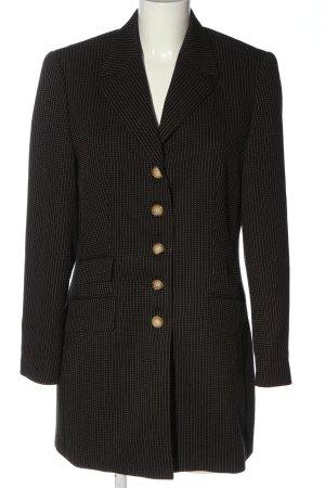 Betty Barclay Blazer lungo nero-bianco sporco motivo a pallini elegante