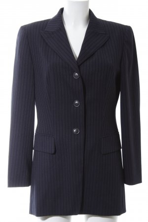 Betty Barclay Long-Blazer blau Streifenmuster Business-Look