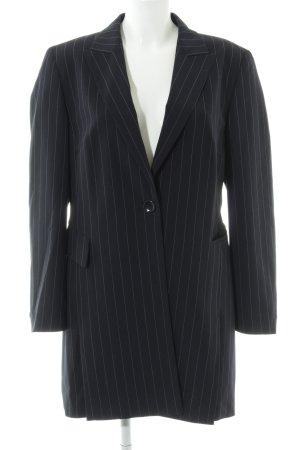 Betty Barclay Long-Blazer schwarz-himmelblau Streifenmuster Elegant