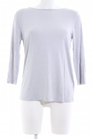Betty Barclay Longsleeve hellgrau-weiß Blumenmuster Casual-Look