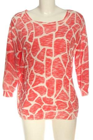 Betty Barclay Manica lunga rosso-bianco stampa integrale stile casual
