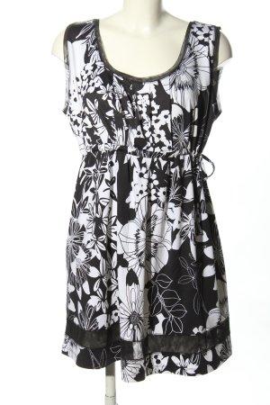Betty Barclay Lange top wit-zwart volledige print casual uitstraling