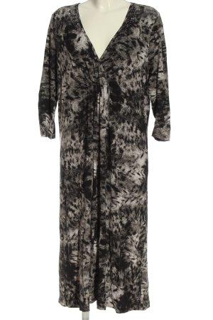 Betty Barclay Midikleid schwarz-hellgrau abstraktes Muster Elegant