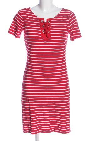 Betty Barclay Shirtkleid rot-weiß Streifenmuster Casual-Look