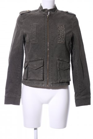 Betty Barclay Militair jack lichtgrijs casual uitstraling