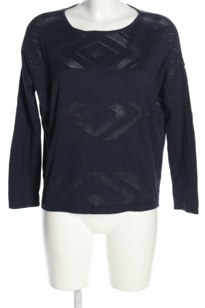 Betty Barclay Strickpullover blau Webmuster Casual-Look