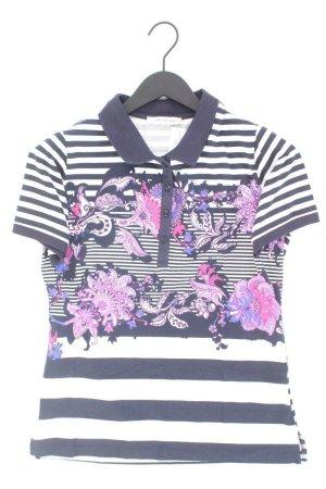 Betty Barclay Poloshirt Größe 40 gestreift Kurzarm blau aus Baumwolle