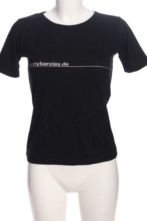 Betty Barclay Print-Shirt schwarz-weiß Schriftzug gedruckt Casual-Look