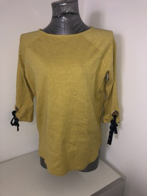 Betty Barclay, Pullover, Gr  38, gelb mit gold