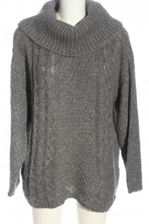 Betty Barclay Turtleneck Sweater silver-colored cable stitch casual look