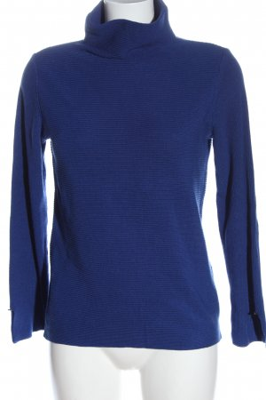 Betty Barclay Rollkragenpullover blau Zopfmuster Elegant