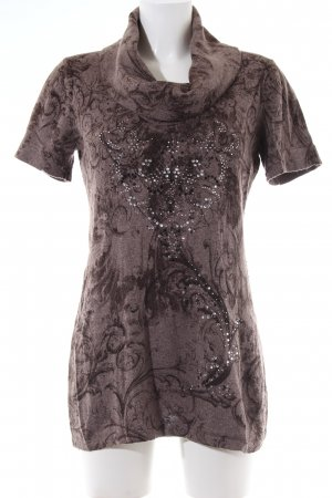 Betty Barclay Turtleneck Shirt bronze-colored allover print casual look