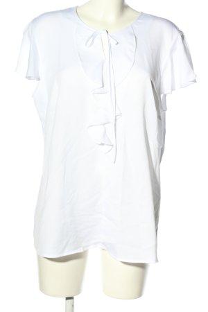 Betty Barclay Camicetta con arricciature bianco stile casual